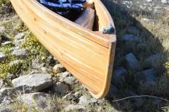 Jacob's handmade cypress canoe, Tallulah